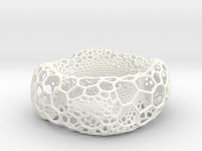 Frohr Design Voronoi Heavy Bracelet in White Processed Versatile Plastic