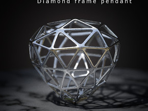 Diamond Frame Pendant in Stainless Steel