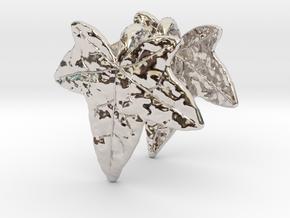 Ivy Leaf Earrings (pair) in Platinum