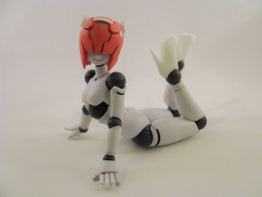 Polynian Compatible Non-Scale Figure High Heels in White Strong & Flexible