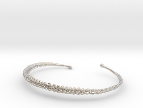Dino Tail Bracelet  in Rhodium Plated Brass