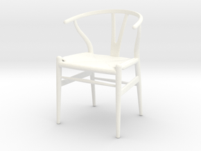 Hans Wegner Wishbone Chair - 1/18 Lundby Scale in White Processed Versatile Plastic