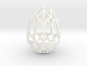 Gothic Egg Shell 1 in White Processed Versatile Plastic