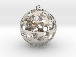 Hadron Ball - 5cm in Rhodium Plated Brass