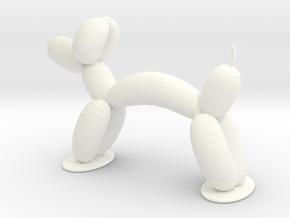 BALLON ANIMAL - DOG  in White Processed Versatile Plastic