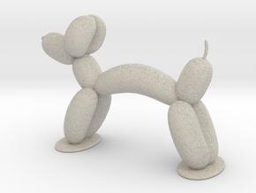 BALLON ANIMAL - DOG  in Natural Sandstone