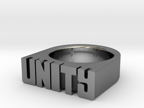 13.9mm Replica Rick James 'Unity' Ring in Fine Detail Polished Silver