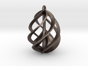 Peace Ascendant - 25mm in Polished Bronzed Silver Steel