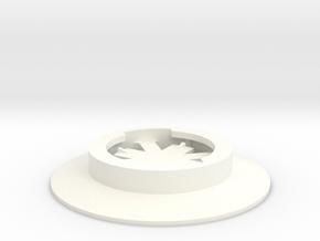 Garmin Eighth-Turn Socket Flat Mount in White Strong & Flexible Polished