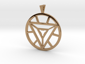 Iron Man Arc Reactor Pendant in Polished Brass
