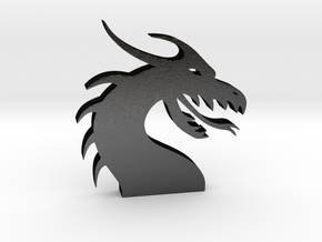 Dragon Head for Henry Morgan in Matte Black Steel