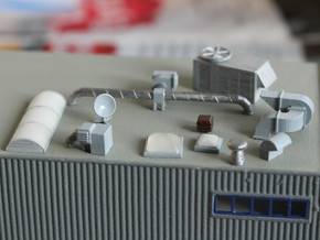 N scale Rooftop Detail Set 27pc in Frosted Ultra Detail