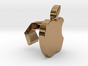 iMac Camera Cover - Apple in Polished Brass