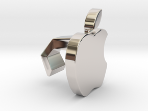 iMac Camera Cover - Apple in Rhodium Plated Brass
