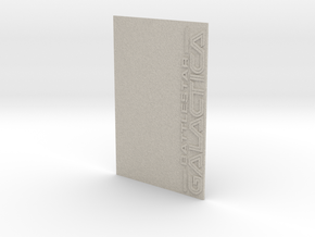 Battlestar Galactica Display v2 (Models to 1/64) in Natural Sandstone