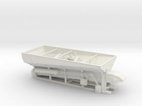 1/50th Stone Slinger Dump Truck Body in White Natural Versatile Plastic