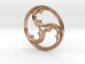 Triskele for geobiology in 14k Rose Gold Plated Brass