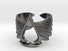 AC ring Master Custom - old version in Polished Nickel Steel