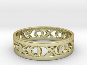 Size 7 Xoxo Ring in 18k Gold Plated Brass