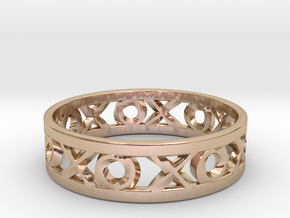 Size 8 Xoxo Ring in 14k Rose Gold Plated Brass