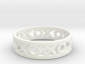 Size 8 Xoxo Ring in White Processed Versatile Plastic