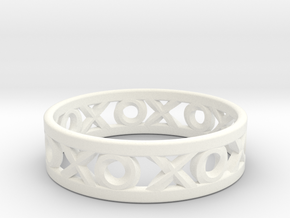 Size 10 Xoxo Ring in White Processed Versatile Plastic