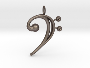 Pozza's Pitch Pendant in Polished Bronzed Silver Steel