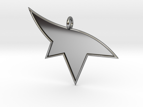Mirrors Edge Pendant in Fine Detail Polished Silver