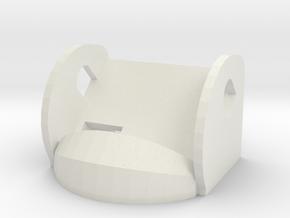45º FPV Camera Mount in White Natural Versatile Plastic