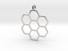 Honeycomb Pendant in Platinum