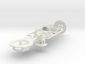 Minidoppelstock Antrieb - 1:220 (Z scale) in White Natural Versatile Plastic