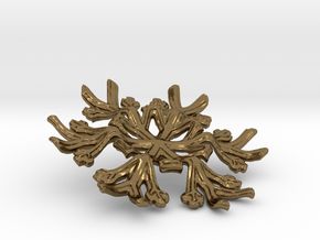 Snowflake Candle Stand - d=70mm in Polished Bronze