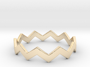 Zig Zag Wave Stackable Ring Size 11 in 14K Gold