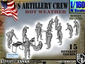 1-160 US Artillery Crew Hot Weather in Frosted Ultra Detail