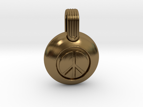 Peace in Polished Bronze