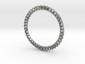 Ring Platonic 19 mm Diameter in Natural Silver