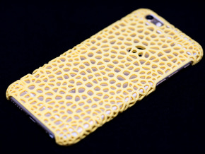 iPhone6 Case Vorono1 (Extreme Voronoi Edition) in Yellow Processed Versatile Plastic