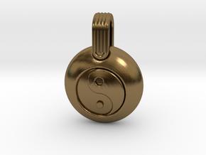Yin Yang in Polished Bronze