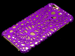 iPhone6 Case Infinity (Extreme Voronoi Edition) in Purple Processed Versatile Plastic