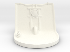 Harley Cup Holder - Part one of a two pieces set in White Processed Versatile Plastic