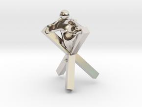 Cross in Rhodium Plated Brass