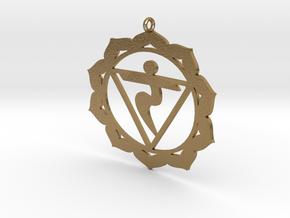 Solar Plexus Chakra Necklace in Polished Gold Steel