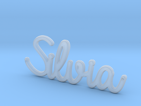 Silvia Pendant  in Smooth Fine Detail Plastic