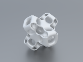 Gyroid Figure in White Strong & Flexible Polished