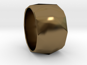 CODE: WP36 - RING SIZE 7 in Polished Bronze