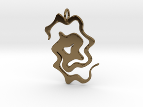 Abstract Pendant in Polished Bronze
