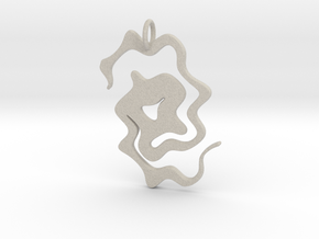 Abstract Pendant in Natural Sandstone