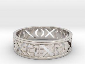 Size 6 Xoxo Ring A in Platinum