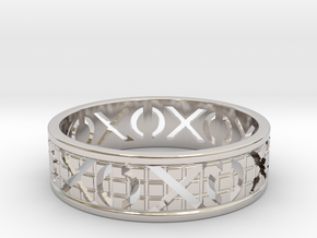 Size 10 Xoxo Ring A in Platinum