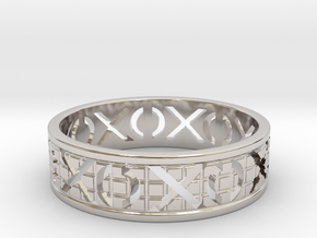 Size 12 Xoxo Ring A in Platinum